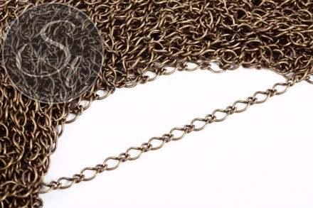 1 meter antique bronze-colored mother-son-link chain-31