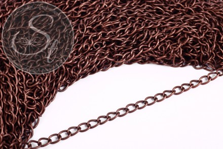 1 meter antique copper-colored chain 7.3mm-31
