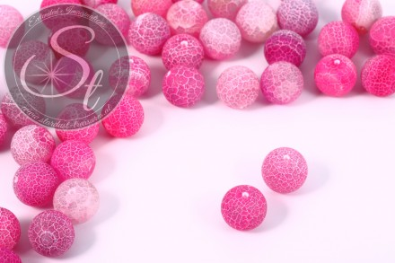 10 pcs. pink agate-beads 14mm-31
