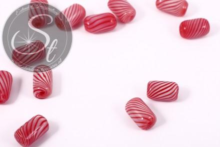 2 pcs. handmade cylindrical hollow glass beads 17mm-31