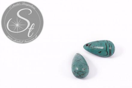 2 pcs. turquoise drop-shaped turquoise pendants 26mm-31