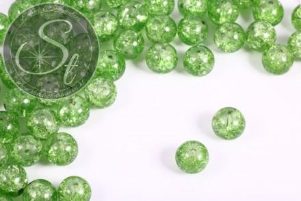 10 pcs. green crackle glass beads 12mm-31