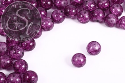 10 pcs. lilac crackle glass beads 12mm-31