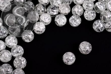 10 pcs. transparent crackle glass beads 12mm-31