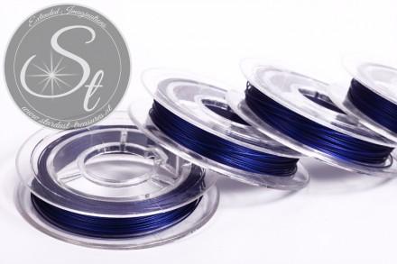 10m dark-blue jewelry wire 0.38mm-31