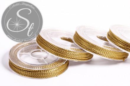 10m metallic golden-colored jewelry cord ~0.8-1mm-31