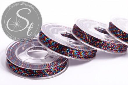 10m metallic multicolored jewelry cord ~0.8-1mm-31