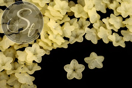 20 pcs. yellow acrylic-flowers frosted 18mm-31