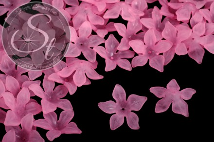 10 pcs. rose lucite-flowers frosted 29mm-31