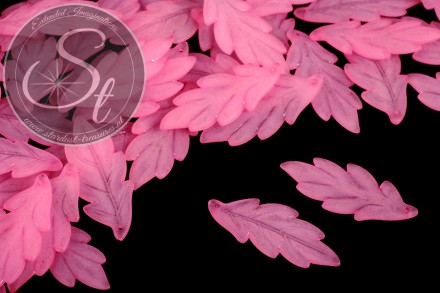 10 pcs. rose acrylic-leaves frosted 43mm-31