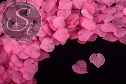 20 pcs. rose acrylic-leaves frosted 16mm-31