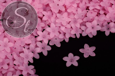 20 pcs. rose acrylic-flowers frosted 17mm-31