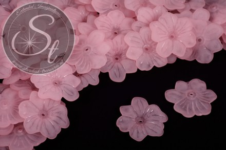 10 pcs. rose acrylic-flowers frosted 30mm-31
