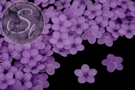 20 pcs. lilac lucite-flowers frosted 20mm-31