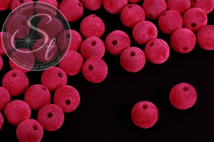 5 pcs. pink velvety-beads 14mm-31