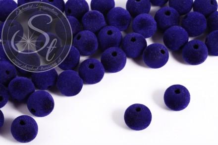 5 pcs. dark-blue velvety-beads 14mm-31