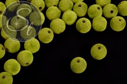 5 pcs. green velvety-beads 14mm-31