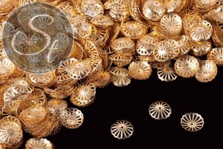 50 pcs. golden-colored bead caps 13mm-31