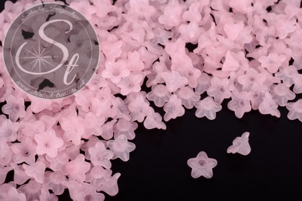 20 pcs. light-rose acrylic-flowers frosted 10mm-31