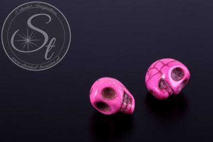 2 pcs. rose skull turquoise beads 13mm-31