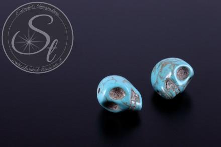 2 pcs. turquoise skull turquoise beads 13mm-31