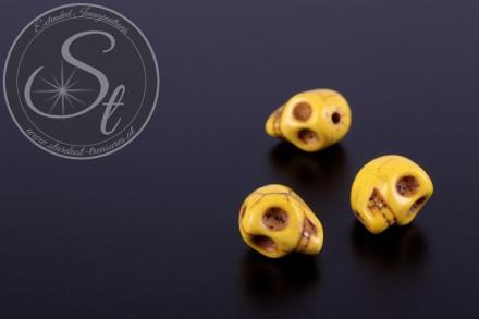 3 pcs. yellow skull turquoise beads 10mm-31