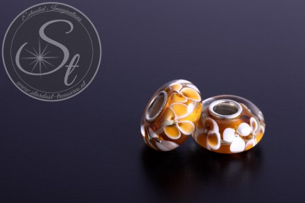1 pc. European lampwork bead ~14mm-31