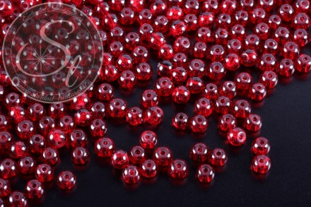 40 pcs. dark-red crackle glass beads 4mm-31