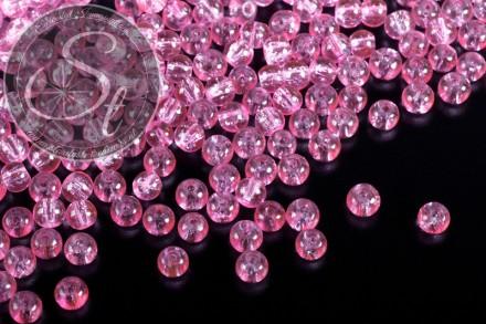 40 pcs. light-rose crackle glass beads 4mm-31