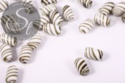 2 pcs. handmade cylindrical hollow glass beads 17mm-20