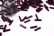 10 pcs. dark-lilac cylindrical cateye beads 15mm-20