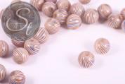 4 pcs. handmade round hollow glass beads 18.5mm-20