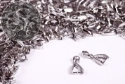 10 pcs. platinum-colored pinch bails 22mm-20