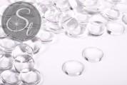 10 pcs. transparent round glass cabochons 18mm-20