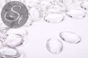 5 pcs. transparent oval glass cabochons 25mm-20