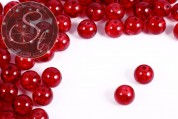 10 pcs. red crackle glass beads 12mm-20