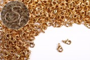 10 pcs. golden-colored clasps 11.8mm-20