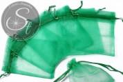 5 pcs. green organza-bags 10cm-20