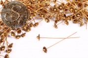 10 pcs. antique golden-colored special headpins 52mm-20