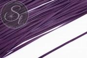 1m dark-lilac imitation-suede ribbon 2.7mm-20