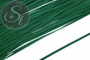 1m dark-green imitation-suede ribbon 2.7mm-20