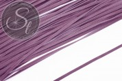 1m lilac imitation-suede ribbon 2.7mm-20