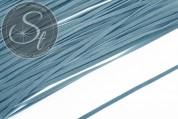 1m smoke blue imitation-suede ribbon 3mm-20
