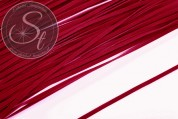 1m red imitation-suede ribbon 3mm-20