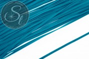 1m dark-turquoise imitation-suede ribbon 3mm-20