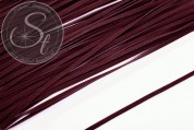 1m dark red brown imitation-suede ribbon 3mm-20