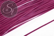 1m magenta-colored imitation-suede ribbon 3mm-20