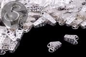 10 pcs. silver-colored bead caps 16mm-20