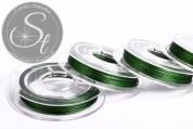 10m dark-green jewelry wire 0.38mm-20