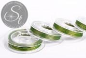 10m light-green jewelry wire 0.38mm-20